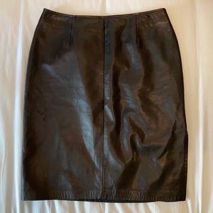 Danier Genuine Leather Pencil Skirt
